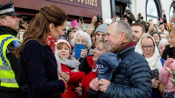 PHOTO: Catherine, Duchess of Cambridge visits Joe's Ice Cream Parlor in the Mumbles, Swansea in south Wales, Britain, Feb. 4, 2020. (Arthur Edwards via Reuters)