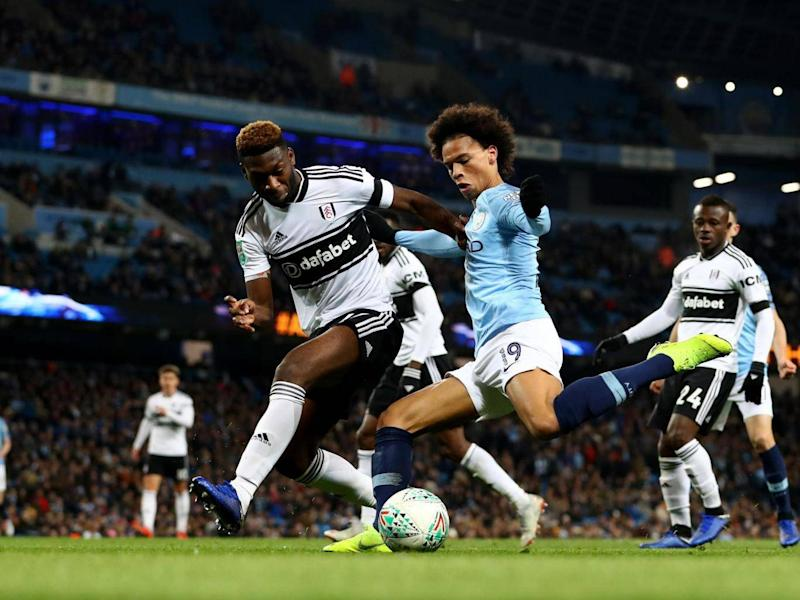 Leroy Sane attempts to put a ball into the Fulham box (Getty Images)