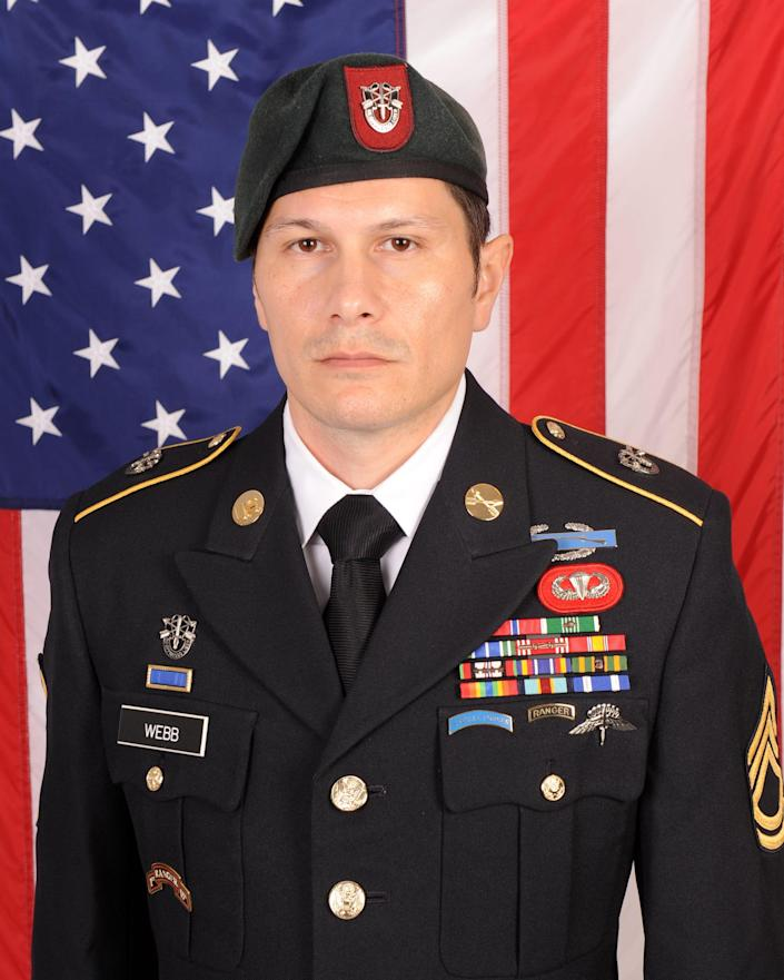 Duke Webb, a U.S. Army Special Forces assistance operations and intelligence sergeant, is charged with killing three people and wounding three others in a shooting Saturday, Dec. 26, 2020, at Don Carter Lanes in Rockford, Ill.