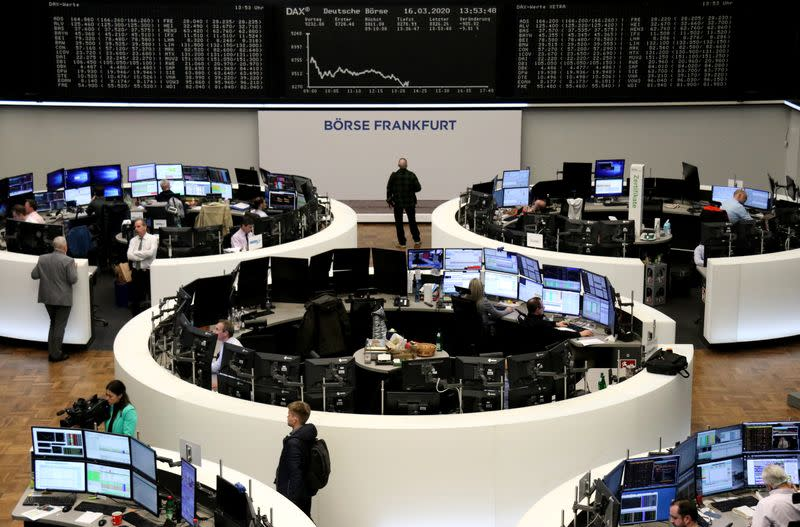 European shares firmly in the red as stimulus hopes fail to hold