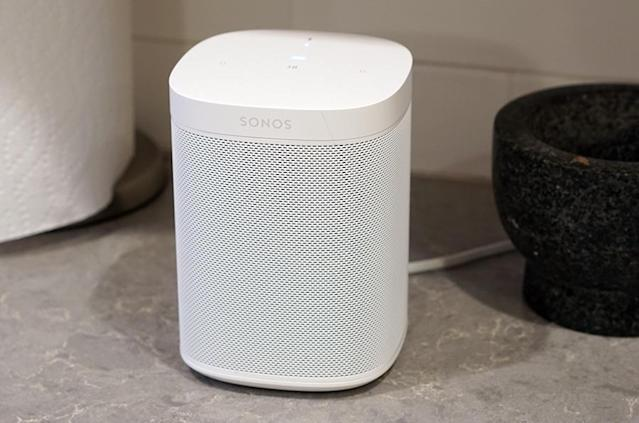 Here it is: The Sonos One, a combination Amazon Echo and internet speaker.