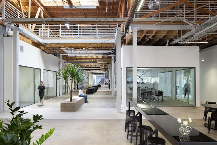 """Headquarters for a 60,000 square-foot tech company designed by RADAR, an architectural office founded by Rachel Allen. The office was completed just weeks before the governor's safer-at-home order shut down most offices. <span class=""""copyright"""">(Jim Simmons Photography)</span>"""