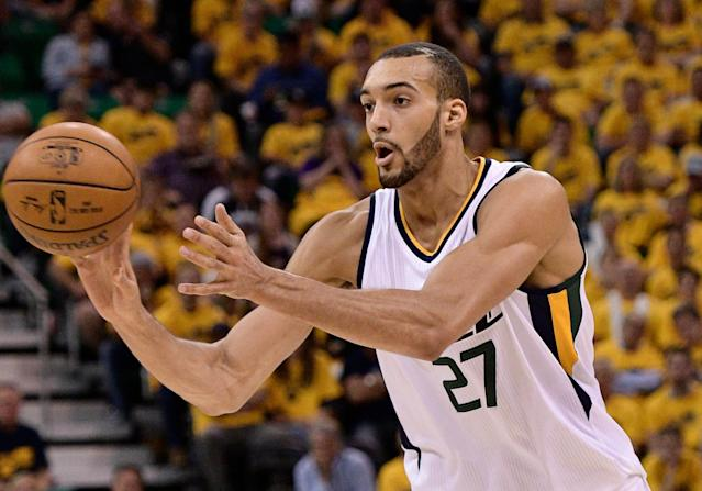 Rudy Gobert is an elite talent, but depending on what kind of format you're playing in, talent might not be enough to earn an everyday-start. (Photo by Gene Sweeney Jr/Getty Images)