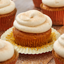 """<p>These are better than pumpkin spice lattes, we promise! </p><p><strong><a href=""""https://www.delish.com/cooking/recipe-ideas/a28438880/easy-pumpkin-spice-cupcakes-recipe/"""" rel=""""nofollow noopener"""" target=""""_blank"""" data-ylk=""""slk:Get the recipe at Delish."""" class=""""link rapid-noclick-resp"""">Get the recipe at Delish.</a></strong></p>"""