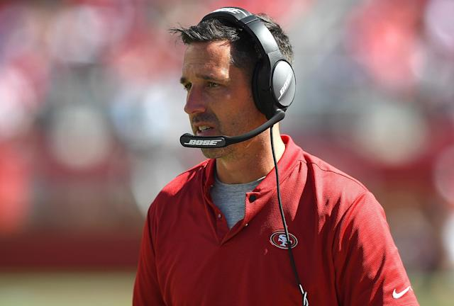 Kyle Shanahan agreed to add three more years on top of his contract with the 49ers. (Photo by Thearon W. Henderson/Getty Images)