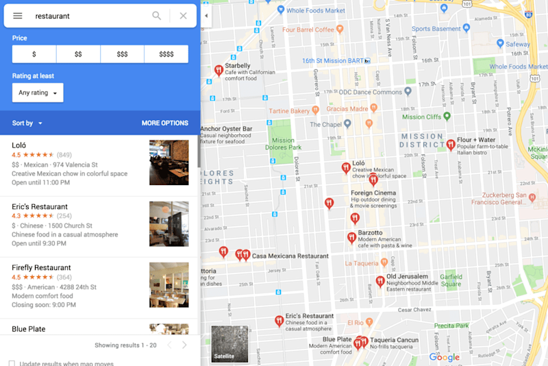 Google Maps Could Be the Do-It-All Restaurant App of the Future