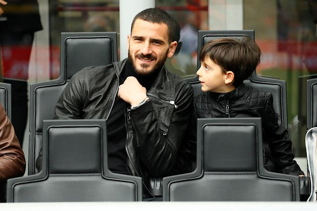 Soccer Football - Serie A - AC Milan vs Napoli - San Siro, Milan, Italy - April 15, 2018 AC Milan's Leonardo Bonucci watches the match from the stands REUTERS/Alessandro Garofalo