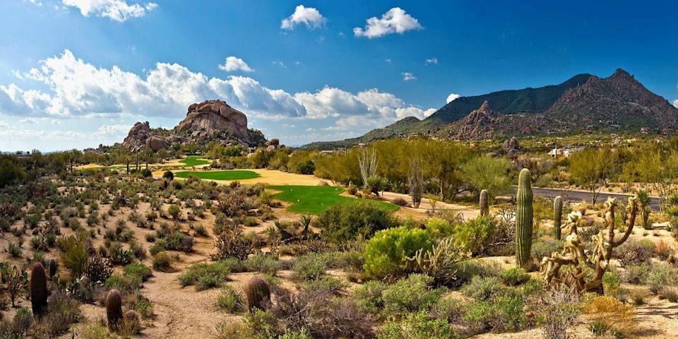 "<p><strong>Best for Avid Golfers</strong></p><p>Phoenix and Scottsdale are known for their world-class golf courses, including two Jay Morrish-designed courses beside stunning rock formations at the Boulders resort and the Adobe and Links courses at the historic Biltmore. </p><p>The Sonoran desert heat can get intense, so after your round, be sure to take a refreshing dip in the pool! </p><p><strong><em>Where to Stay: </em></strong><a href=""https://www.tripadvisor.com/Hotel_Review-g31181-d73240-Reviews-Boulders_Resort_Spa_Curio_Collection_by_Hilton-Carefree_Arizona.html"" rel=""nofollow noopener"" target=""_blank"" data-ylk=""slk:Boulders Resort & Spa"" class=""link rapid-noclick-resp"">Boulders Resort & Spa</a>, <a href=""https://www.tripadvisor.com/Hotel_Review-g31310-d115484-Reviews-Arizona_Biltmore_A_Waldorf_Astoria_Resort-Phoenix_Arizona.html"" rel=""nofollow noopener"" target=""_blank"" data-ylk=""slk:Arizona Biltmore"" class=""link rapid-noclick-resp"">Arizona Biltmore</a></p>"