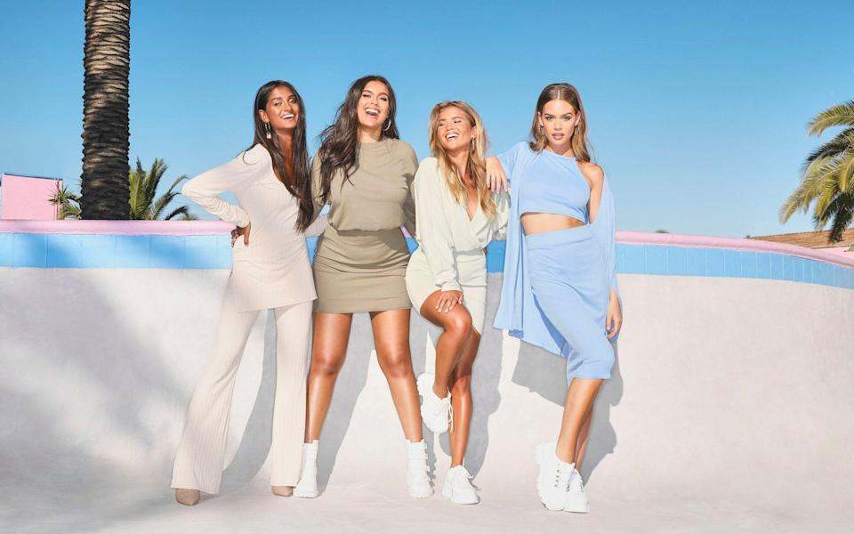 A Boohoo advertising campaign image