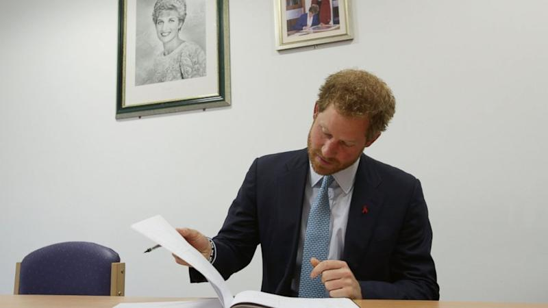 Prince Harry Pays Tribute to Princess Diana at London HIV Hospital