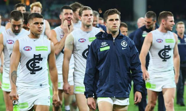 "<span class=""element-image__caption"">The state government-backed sponsorships to clubs like Carlton on the basis they eschew sports betting money does little to help make sense of the AFL's commercial deals.</span> <span class=""element-image__credit"">Photograph: Michael Dodge/Getty Images</span>"