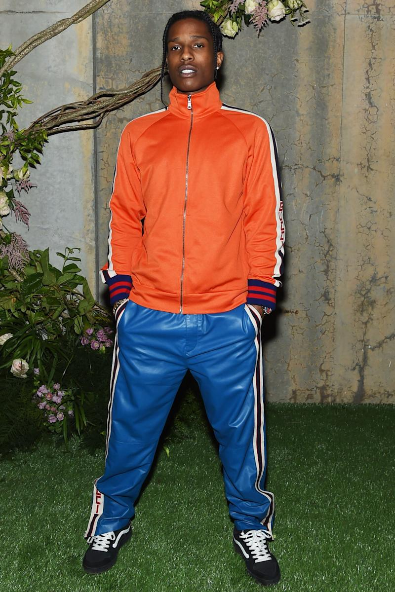A$AP Rocky Can't Stop, Won't Stop Wearing Track Suits