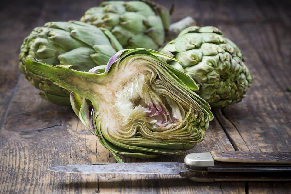 """<p>It's hard not to think about artichokes when you picture spring produce. Fortunately, it tastes good and has plenty of benefits. """"Artichokes can be intimidating to introduce into your diet ,but they're actually super easy to prepare and house many benefits,"""" said Nadeau. """"A medium-sized artichoke is only about 60 calories, but packs a ton of nutrition, including 7 grams of gut-healthy fiber, potassium, vitamin C, folate, magnesium, and cell-protective phytochemicals."""" </p>"""
