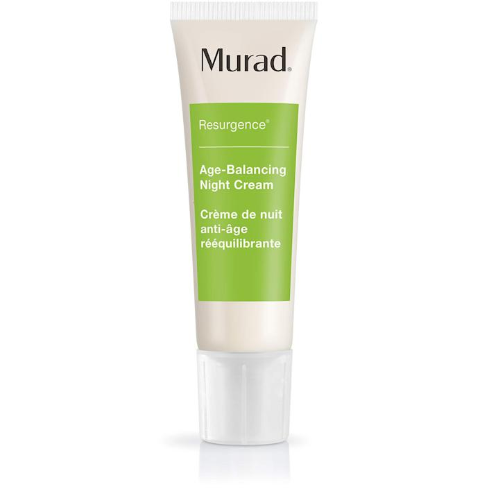 """<h3>Murad Resurgence Age-Balancing Night Cream</h3><br><strong>Nicole</strong><br><br>""""Murad is an amazing brand, and this night cream is great for keeping the skin super moisturized. I also love the <a href=""""https://amzn.to/2BozRqT"""" rel=""""nofollow noopener"""" target=""""_blank"""" data-ylk=""""slk:Resurgence face wash"""" class=""""link rapid-noclick-resp"""">Resurgence face wash</a> for cleansing my skin but without over-stripping.""""<br><br><strong>Murad</strong> Resurgence Age-Balancing Night Cream, $, available at <a href=""""https://amzn.to/2BfQkxF"""" rel=""""nofollow noopener"""" target=""""_blank"""" data-ylk=""""slk:Amazon"""" class=""""link rapid-noclick-resp"""">Amazon</a>"""