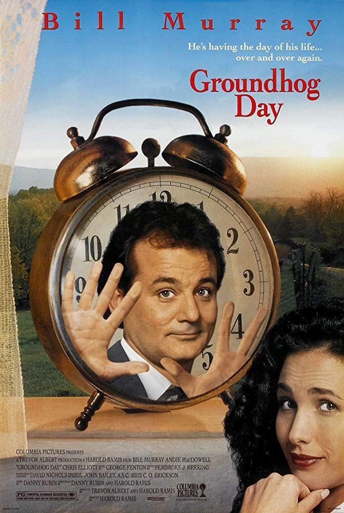 """<p>Bill Murray stars opposite Andie MacDowell as a weatherman who relives Groundhog Day again, and again, and again.</p><p><a class=""""link rapid-noclick-resp"""" href=""""https://www.amazon.com/Groundhog-Day-Bill-Murray/dp/B008Y6MKSW?tag=syn-yahoo-20&ascsubtag=%5Bartid%7C10050.g.25336174%5Bsrc%7Cyahoo-us"""" rel=""""nofollow noopener"""" target=""""_blank"""" data-ylk=""""slk:WATCH NOW"""">WATCH NOW</a></p>"""
