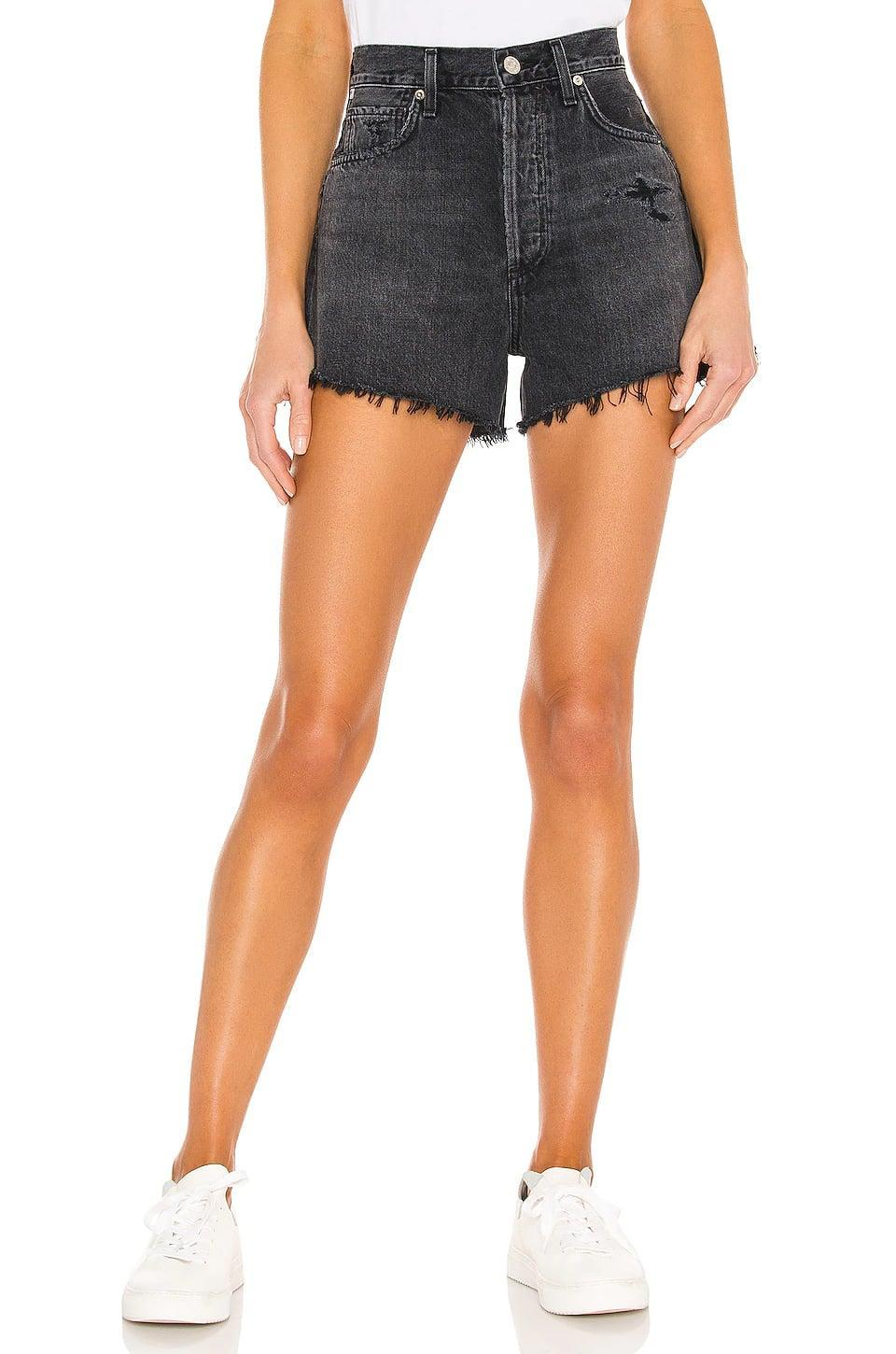 <p>If you can never give up your black jeans, go for these <span>Citizens of Humanity Marlow Vintage Fit Shorts</span> ($148).</p>