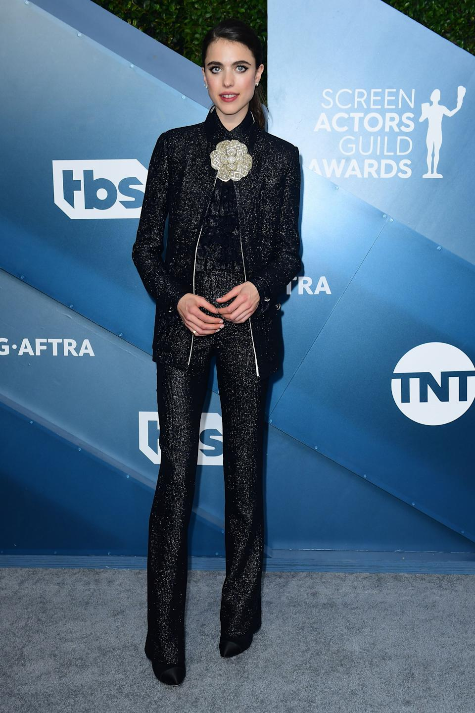 <h2>Margaret Qualley in Chanel</h2><br>Margaret Qualley's shimmering Chanel suit is everything we could've asked for, and more.