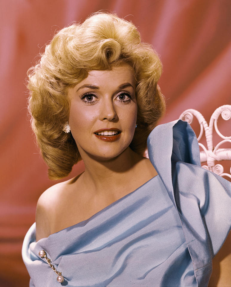 <p>The 'Beverly Hillbillies' star was one of two initial recipients of the Miss Golden Globe Award, when it honored rising stars without the familial hook we have today. Douglas won for TV, while now-forgotten actress Eva Six received the award for film. (Photo: Getty Images) </p>