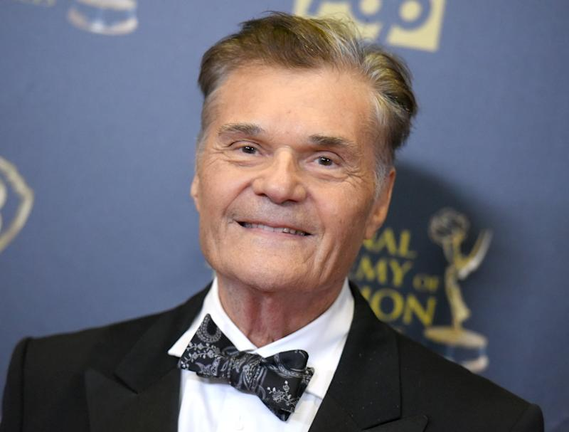 Fred Willard poses in the pressroom at the 42nd annual Daytime Emmy Awards at Warner Bros. Studios on Sunday, April 26, 2015, in Burbank, Calif. (Photo by Richard Shotwell/Invision/AP)