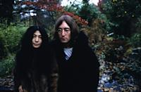 <p>Susan Wood took this portrait of Yoko Ono and John Lennon in December 1968. </p>