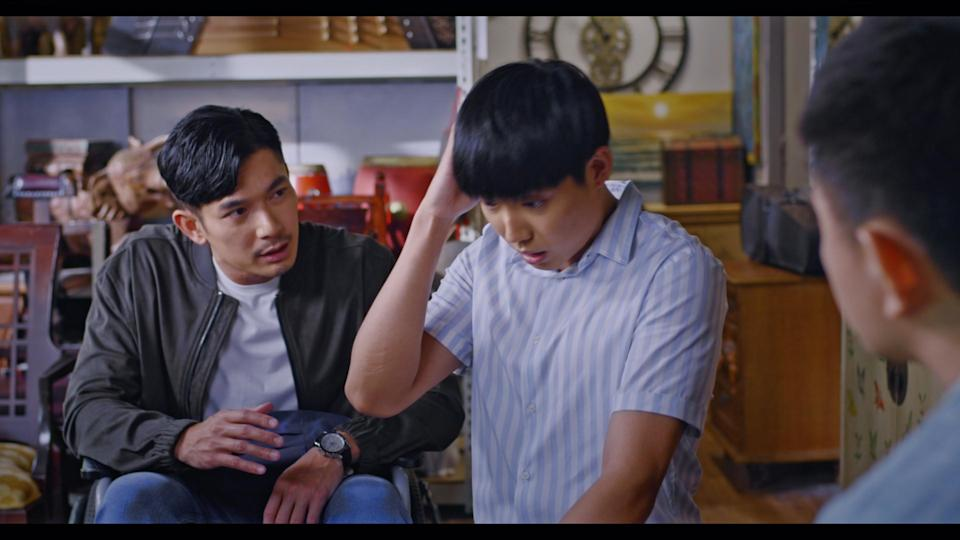 Elvin Ng and Benjamin Tan in Channel 8 drama The Heartland Hero. (Photo: Mediacorp)