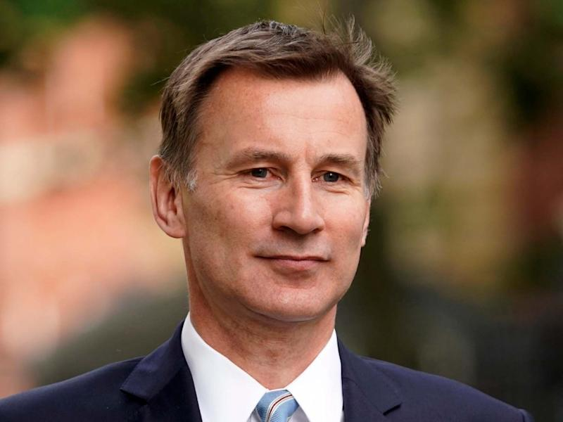Former health secretary Jeremy Hunt is bidding to become chair of the House of Commons health select committee: EPA