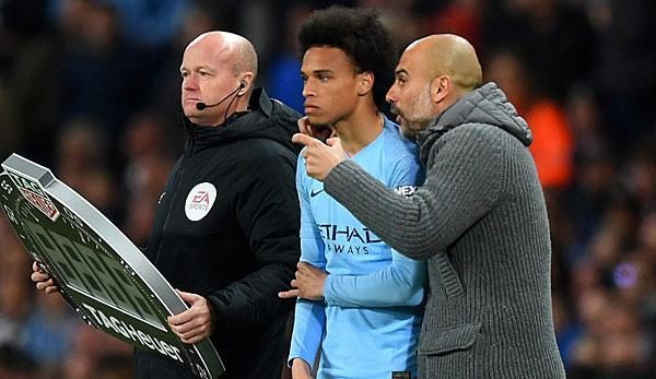 Teammanager Pep Guardiola (48) vom englischen Meister Manchester City hat in der Causa Leroy Sane (23) weiterhin nichts vom deutschen Rekordmeister Bayern München gehört.
