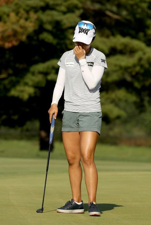 Lydia Ko can't hide her agony after missing the putt to force a playoff at the Marathon LPGA Classic