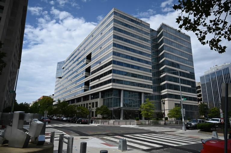 The World Bank and IMF builing in Washington deserted because of the pandemic