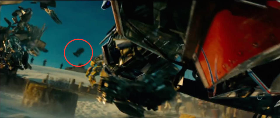 <p>A month after the <i>Trek</i> reboot hit theaters in 2009, the astromech found himself mixed up in the Autobot-Decepticon battle in the Michael Bay-directed, Spielberg-produced blockbuster. <i>(Credit: Paramount Pictures)</i></p>