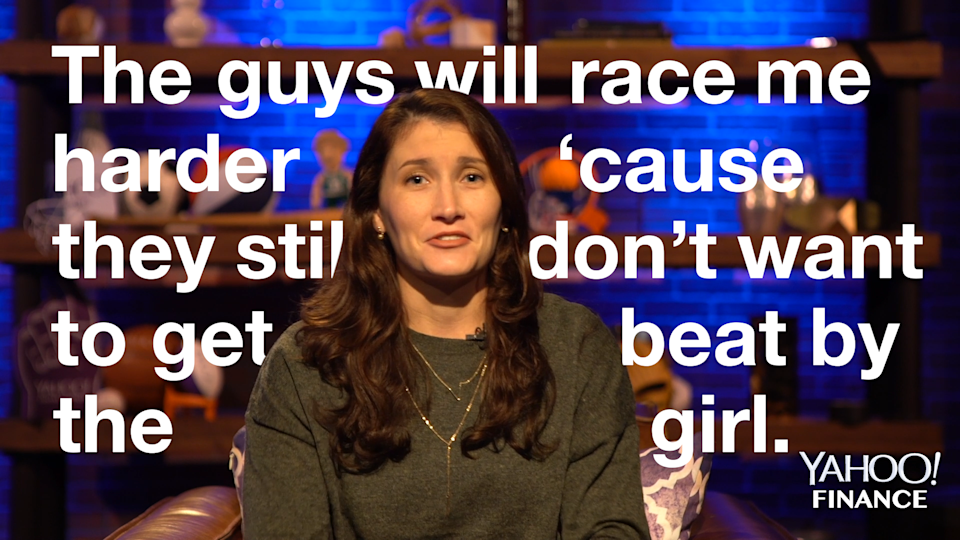 NASCAR driver Julia Landauer told us about her career as a woman racecar driver in a male-dominated sport.
