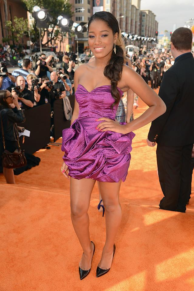 Keke Palmer arrives at the 2012 Nickelodeon Kids' Choice Awards in Los Angeles, California.