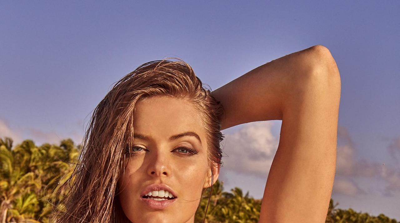 41e392d43262f  p Robyn Lawley was photographed by Ruven Afanador in Mexico. Swimsuit by  Luli