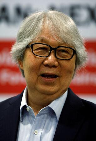 "Singaporean professor Tommy Koh attends the 15th ASEAN Lecture on ""ASEAN: Next 50"" at the ISEAS Yusof Ishak Institute in Singapore"