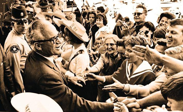 Republican presidential candidate Barry Goldwater in October 1964. (Digitally enhanced photo: Henry Burroughs/AP)