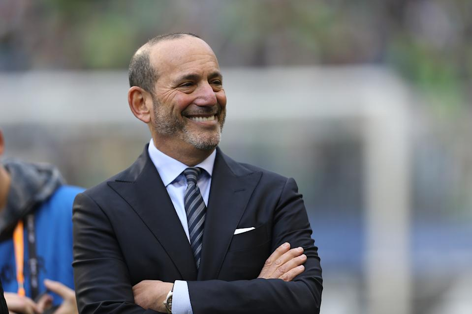 MLS commissioner Don Garber has to be happy that the league's 25th season will start on time. (Omar Vega/Getty)