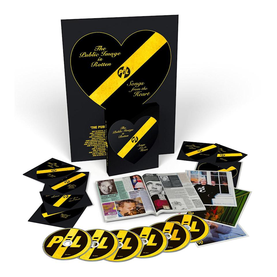 <p>John Lydon's groundbreaking, wildly experimental post-Sex Pistols band is the focus of this massive seven-disc box, which collects singles, B-sides, rarities, 12-inch mixes, unreleased material, and live sets on either CD or vinyl. </p>