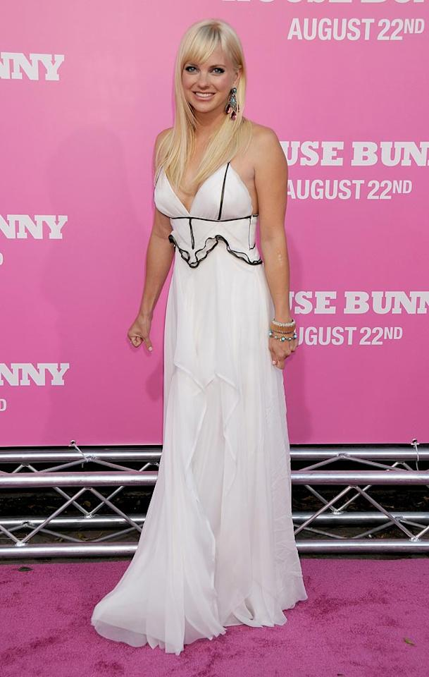 """<a href=""""http://movies.yahoo.com/movie/contributor/1800506130"""">Anna Faris</a> at the Los Angeles Premiere of <a href=""""http://movies.yahoo.com/movie/1809921361/info"""">The House Bunny</a> - 08/20/2008"""