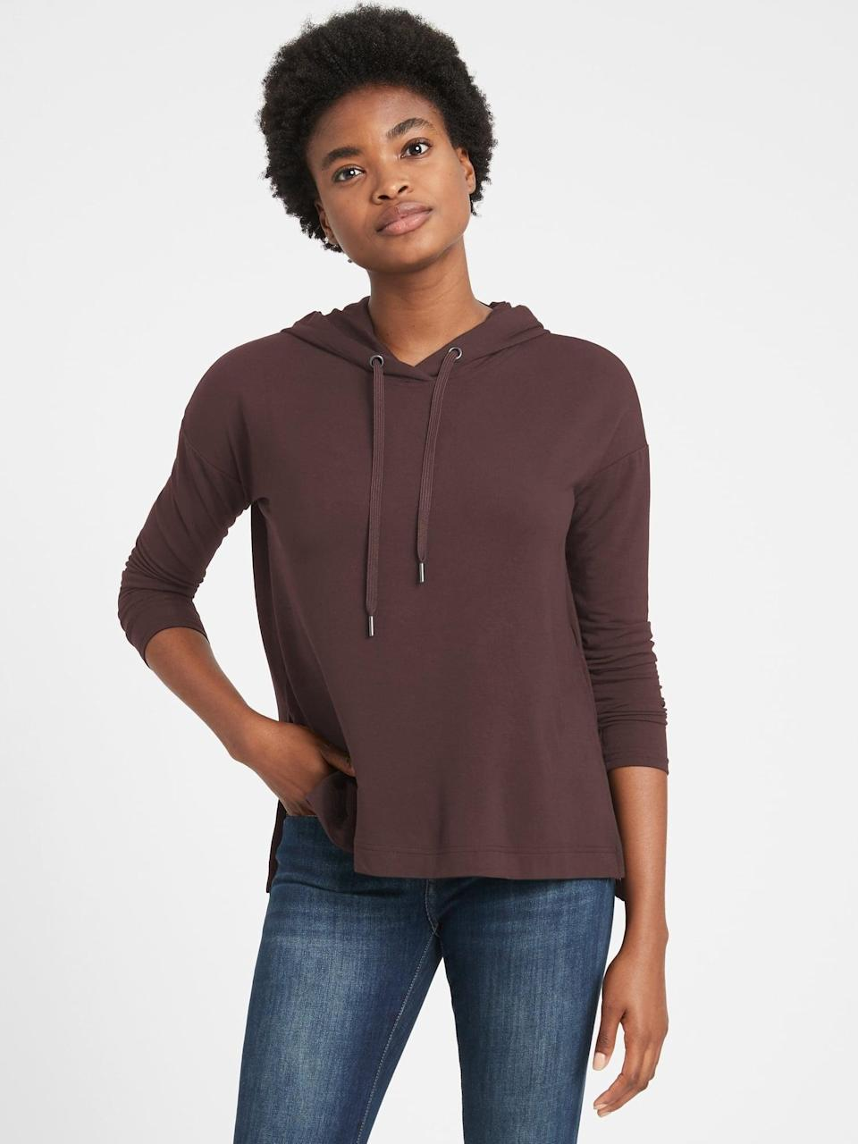<p>This <span>Baby Terry Boxy Hoodie</span> ($47, originally $60) is designed to fit loosely, while being comfortable enough for all-day wear.</p>