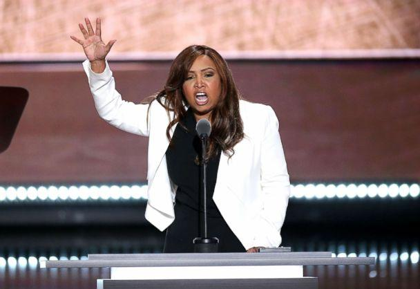 PHOTO: Lynne Patton, vice president of the Eric Trump Foundation, speaks during the Republican National Convention in Cleveland,July 20, 2016. (Daniel Acker/Bloomberg via Getty Images FILE)