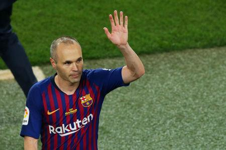 Iniesta se despede do Barcelona 20/5/2018 REUTERS/Albert Gea