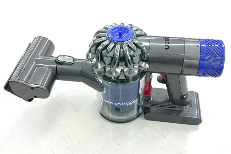 The Dyson v6 vacuum was among the models on offer