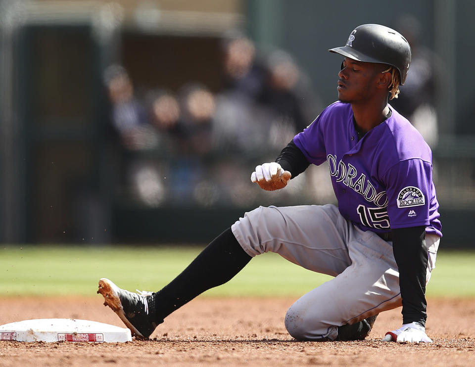 Here's hoping Raimel Tapia gets another look in the big leagues, soon. (AP Photo/Ben Margot)