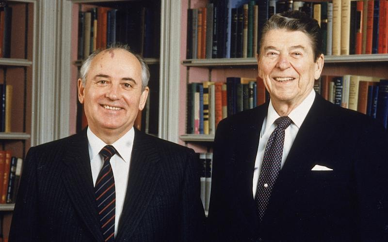Mikhail Gorbachev and Ronald Reagan negotiated the Intermediate-Range Nuclear Forces Treaty, which paved the way for arms reductions - HULTON ARCHIVE