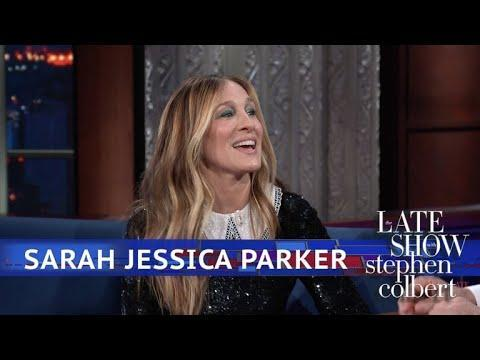 """<p>Parker referenced the new """"opening"""" in the <em>Sex and the City</em> cast while she was on <em>Stephen Colbert</em>.</p><p><a href=""""https://www.youtube.com/watch?v=Jiia2IcFwqk"""" rel=""""nofollow noopener"""" target=""""_blank"""" data-ylk=""""slk:See the original post on Youtube"""" class=""""link rapid-noclick-resp"""">See the original post on Youtube</a></p>"""