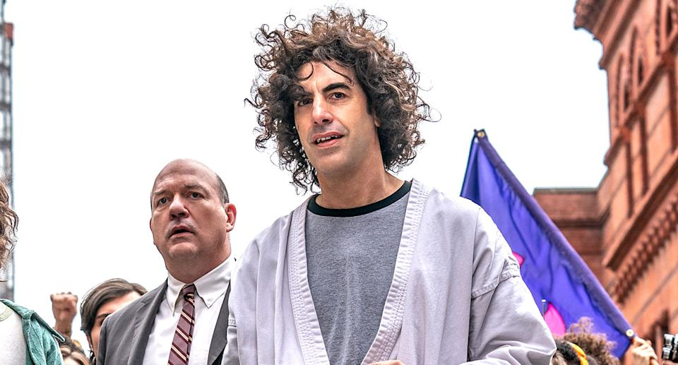 Sacha Baron Cohen in The Trial of the Chicago 7 (Netflix)
