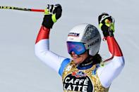 Switzerland's Corinne Suter was a junior downhill and Super-G world champion in 2014