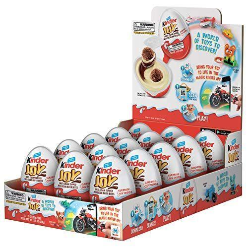 "<p><strong>Kinder Joy</strong></p><p>amazon.com</p><p><strong>$22.95</strong></p><p><a href=""https://www.amazon.com/dp/B077NT42QP?tag=syn-yahoo-20&ascsubtag=%5Bartid%7C2089.g.1239%5Bsrc%7Cyahoo-us"" rel=""nofollow noopener"" target=""_blank"" data-ylk=""slk:Shop Now"" class=""link rapid-noclick-resp"">Shop Now</a></p><p>If you've never experienced the delicious joy of a Kinder egg, you are missing out. These individually wrapped eggs are filled with tasty cream, crispy, chocolate-covered wafer bites, and of course, a mystery toy. </p>"