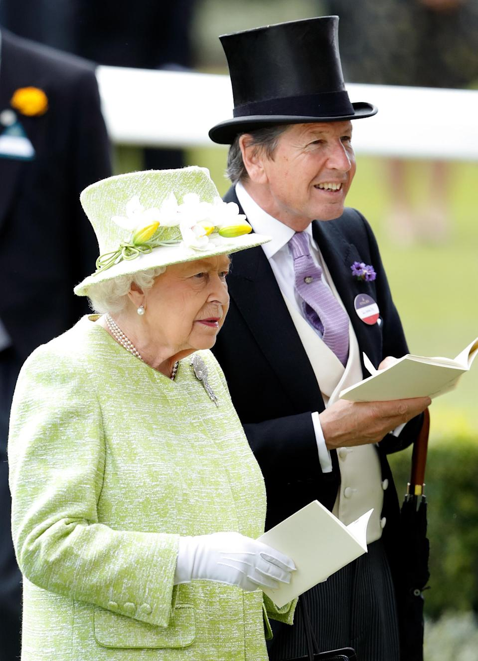 The Queen with John Warren at Royal Ascot in 2019. (Getty Images)