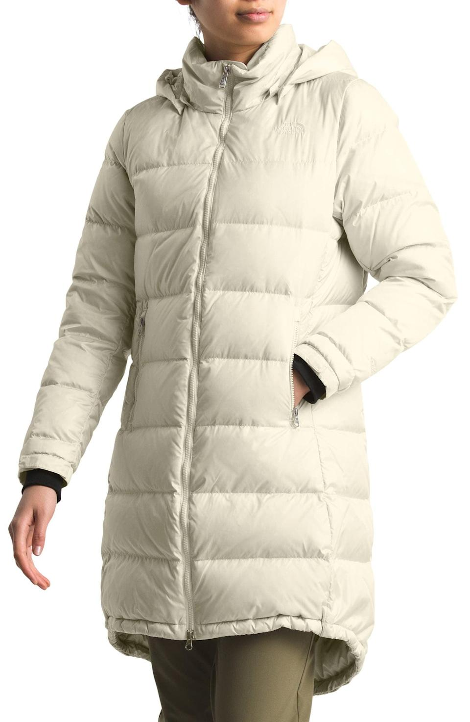 <p><span>The North Face Miss Metro II Water Repellent 550 Fill Power Down Hooded Parka</span> ($179, originally $299)</p>